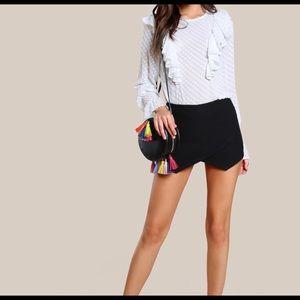 Zara back zip Overlap skort size S